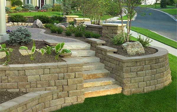 Front Yard Landscaping & Interlocking