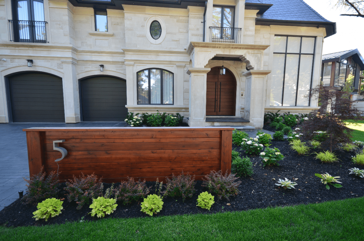 This landscaping project was done with an end goal to make a bound together outdoor space that can be utilized all year even in Toronto's harshest climate conditions